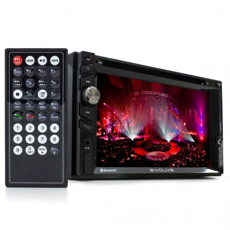 "Central Multimídia Multilaser 2 Din Evolve com GPS e TV - Tela 6.2"" - USB, SD, Aux e BT - Outlet"