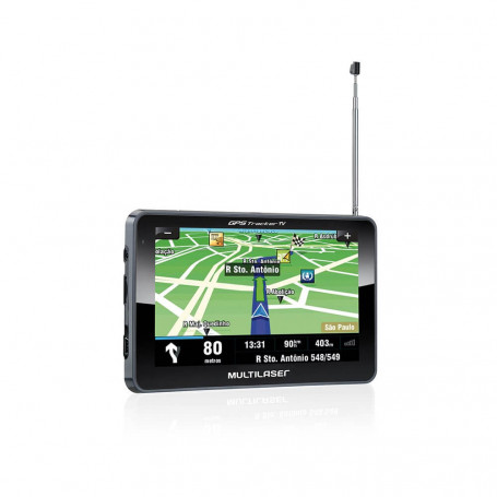 "GPS Automotivo Multilaser Tracker 3 Tela 7"" Com FM e TV Digital GP038"