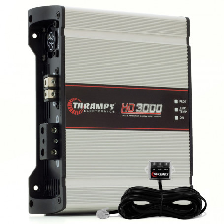 Módulo Amplificador Digital Taramps HD 3000 1 Canal 3575 Watts RMS com Extensor LED Clip 2 Ohms