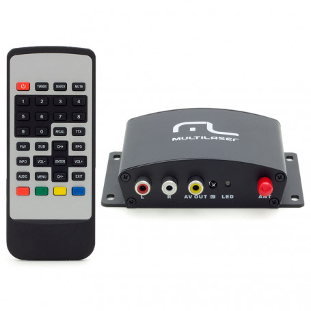 Receptor de TV Digital Multilaser Automotivo One Seg - AU907