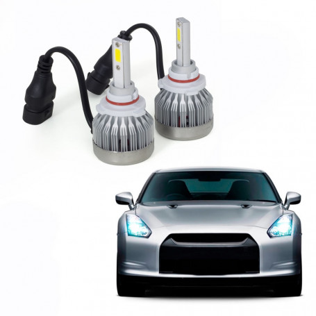Kit Lâmpada Super LED Automotiva Multilaser HB3 - 6200K - 30 Watts - AU839