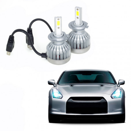 Kit Lâmpada Super LED Automotiva Multilaser H7 - 6200K - 30 Watts - AU835