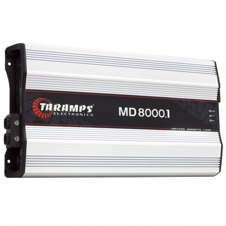 Módulo Amplificador Digital Taramps MD 8000 1 Canal 8000 Watts RMS 1 Ohm Som Automotivo