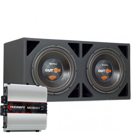 Kit Caixa Grave Ativa Premier Audio Amplificada Bomber Outdoor - 1000 Watts RMS
