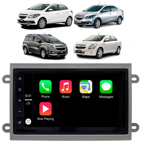 Central Multimídia Caska para Cobalt, Spin, Onix e Prisma Apple Car Play Android Auto