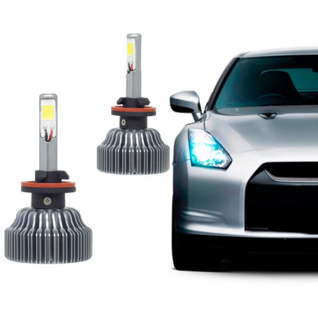 Kit Lâmpada Super LED Automotiva Tech One 881/H27 - 12V - 6000K - 36 Watts - 6000 Lumens