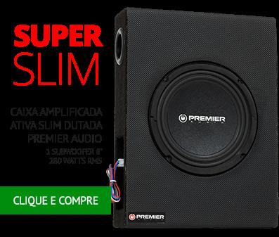 Caixa Amplificada Ativa Slim Dutada Premier Audio com 1 Subwoofer 8