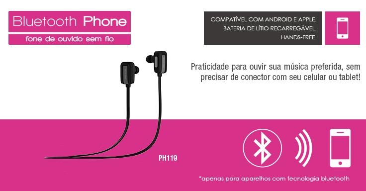 Fone de Ouvido Multilaser Bluetooth V4.0 Runner - PH119
